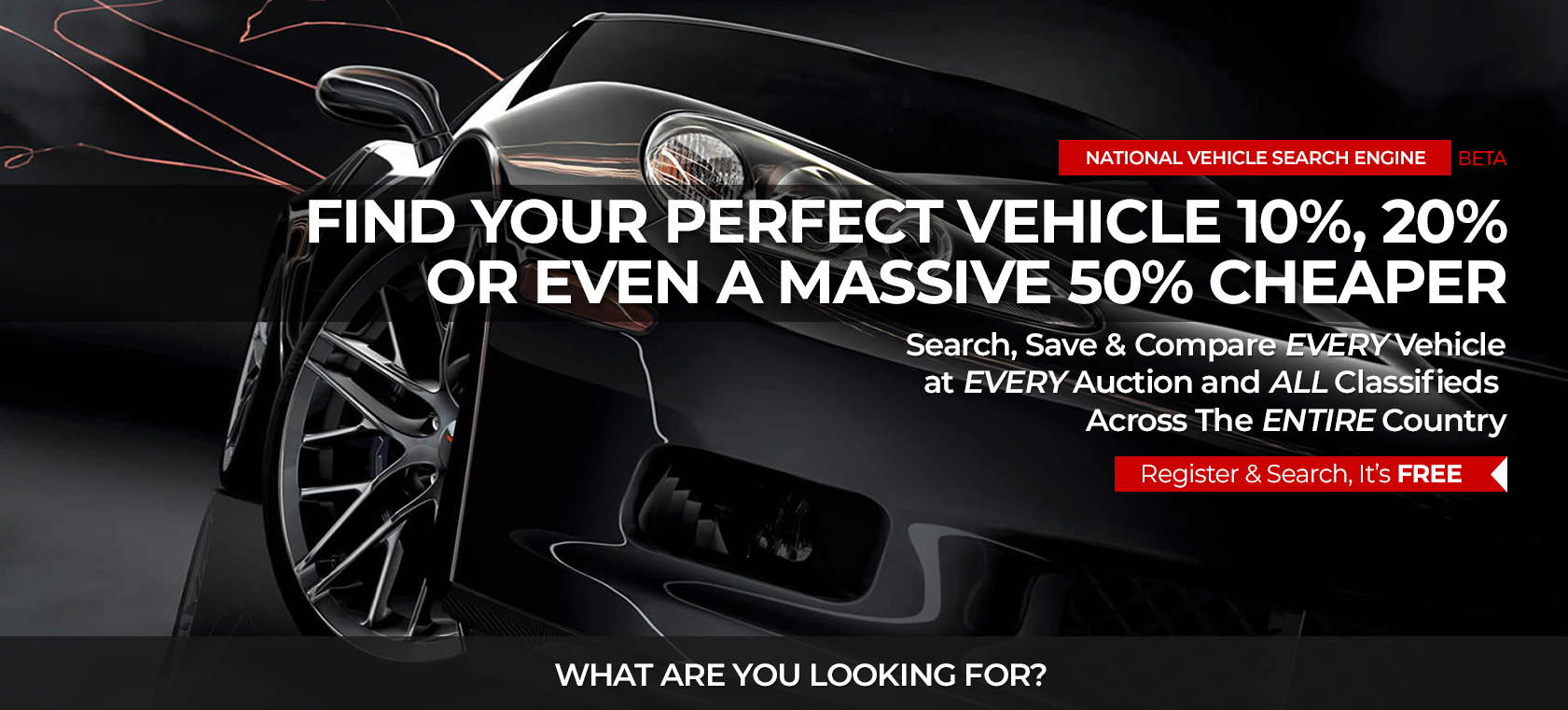 Search all car auctions and car classifieds in one place