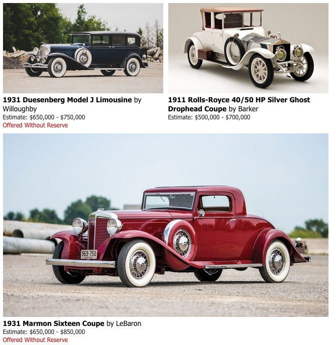 Duesenberg at auction at RM Auctions