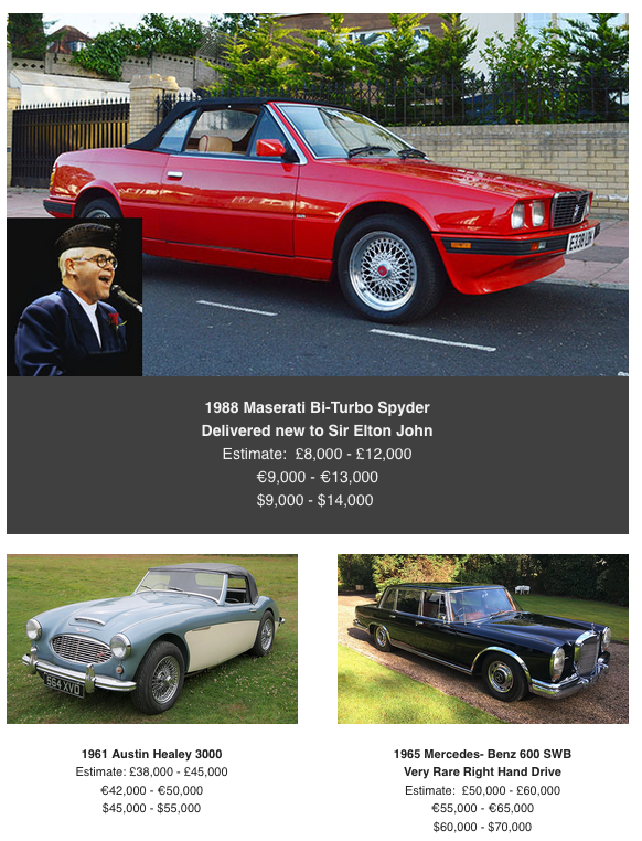 Maserati at coys classic car auction
