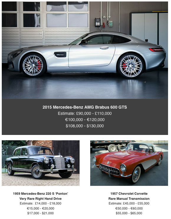 Mercedes at coys classic car auction