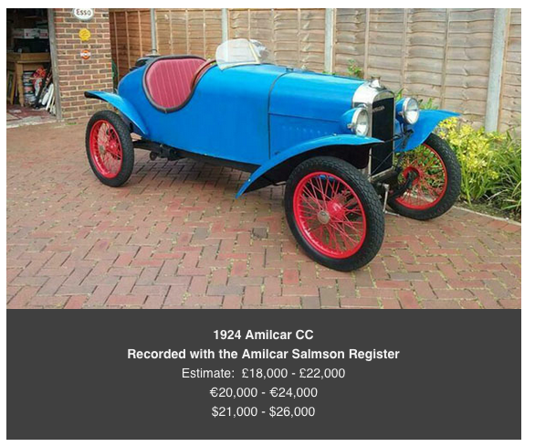 amilcar at auction